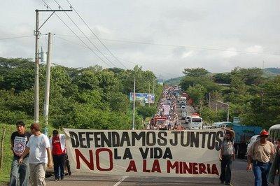El Salvador Pacific Rim protest