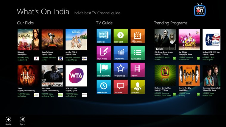 Whats On India TV Guide
