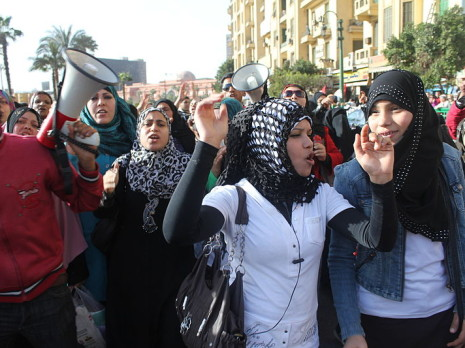 Women's Rights Day protest, Egypt. Credit: Al Jazeera-English