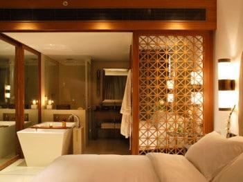 Luxury hotel room in Goa, India
