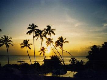 Barbados sunset. Credit: Carol Munro