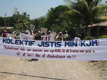 Haiti mining protest May 2015. Credit: Peterson Derolus