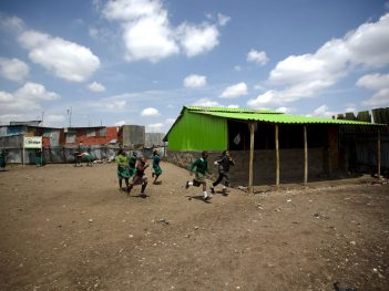 Bridge International Academy in the Nairobi slum of Mukuru kwa Njenga. Photo credit: Frederic Courbet for NPR