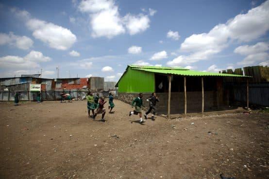 Bridge International Academy in the Nairobi slum of Mukuru kwa Njenga. Photo credit: Frederic Courbet for NPR