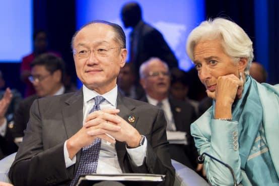 October 8, 2016 - WASHINGTON DC., 2016 IMF / World Bank Annual Meetings. World Bank Group President Jim Yong Kim; IMF Managing Director Christine Lagarde; Photo: Simone D. McCourtie / World Bank