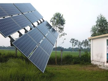 Solar panels in Rohertek, Bangladesh. Credit: Dominic Chavez, World Bank