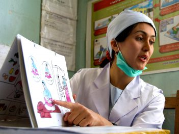 Community midwife in badakhshan uses postpartum family planning