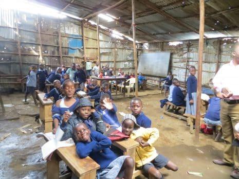 Non-formal primary school in Mathare, Nairobi, Kenya. Credit: TonyBaker