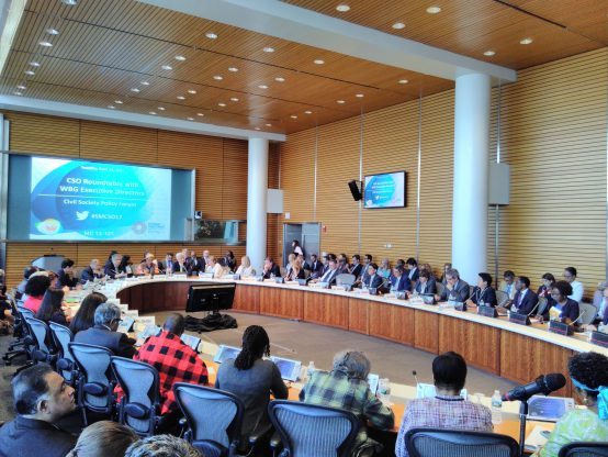 World Bank Group Executive Directors Roundtable with Civil Society at the spring meetings 18 April. Credit: Petra Kjell