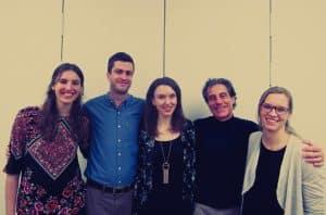 BWP team left to right: Emma Burgisser, Jon Sward, Miriam Brett, Luiz Vieira, Roosje Saalbrink