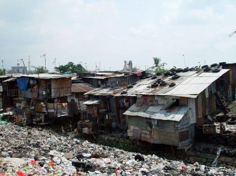 A shanty town in Jakarta