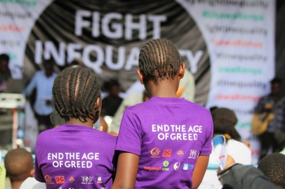 Participants at a recent Fight Inequality Alliance event.