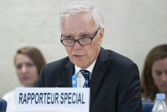 Philip Alston, special rapporteur on extreme poverty and human rights present his report at the 38th Regular Session of the Human Rights Council.