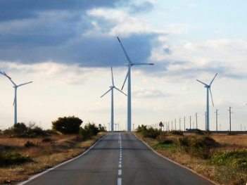 The wind park near the village of Bulgarevo,Bulgaria.
