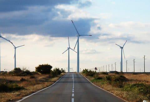 The wind park near the village of Bulgarevo,Bulgaria.