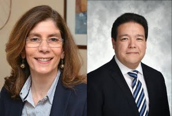 Former World Bank chief economist, Pinelopi Goldberg (left) Credit: World Bank; Geoffrey Okamoto, appointed IMF first deputy managing director (right)